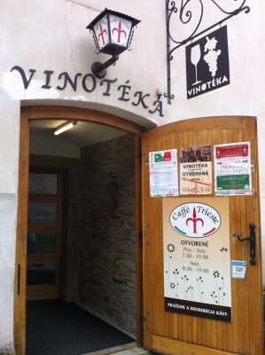 Entrance to a Poprad cafe/wine bar ©englishmaninslovakia.com