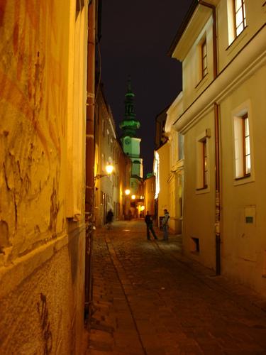 Bratislava street by night