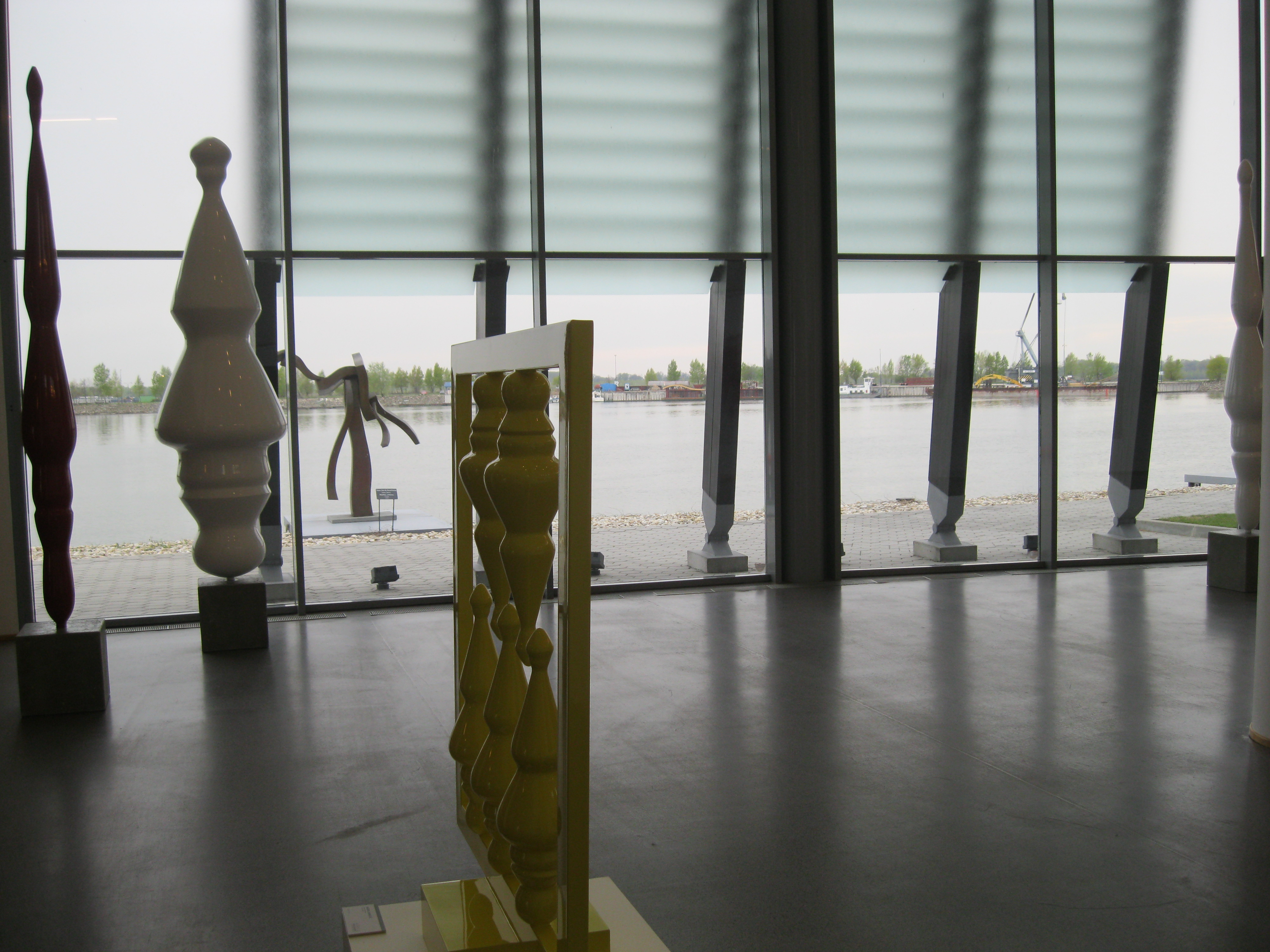 From inside the museum space, looking out at the Danube