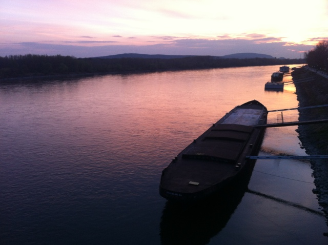Danube sunset from Most SNP