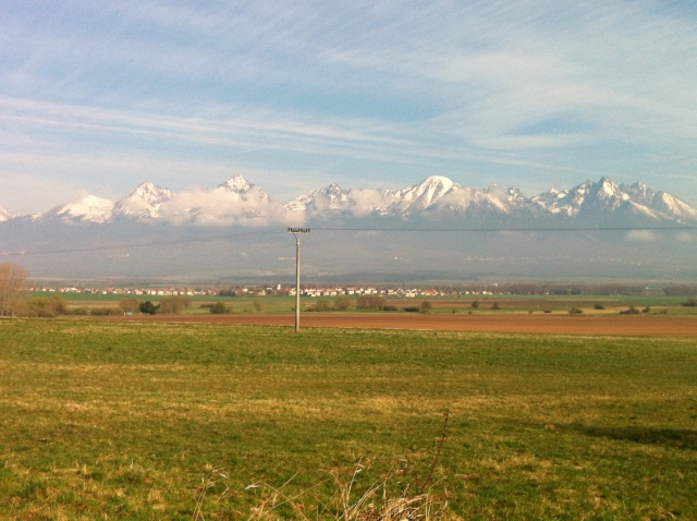 The High Tatras in their morning glory from Kvetnica