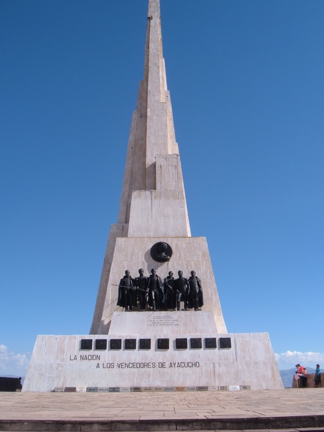 Monument to Peruvian Independence, Quinua