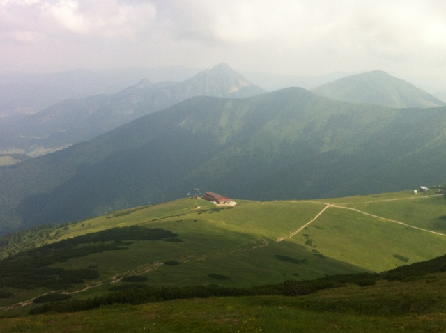 Mountains near Malá Fatra's Kriváň