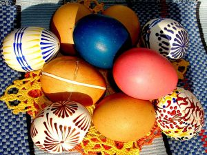 Painted eggs… a typical Slovak handicraft - pic by Picture by Doko Ing. Mgr. Jozef Kotulič