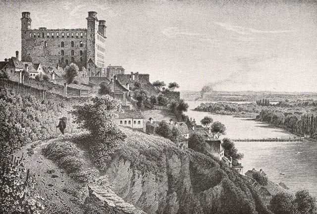 Bratislava Castle in the mid-19th Century, Ludwig Rohbock