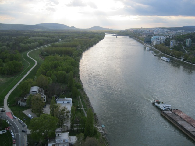 The Danube looking west from the UFO