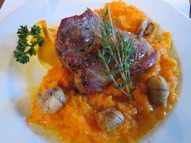 Mangalica with chestnuts and parsnip puree  ©englishmaninslovakia.com