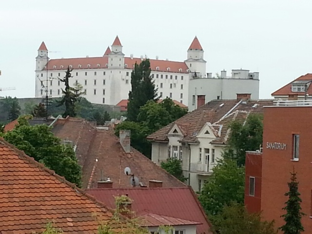 View of Bratislava from a bedroom window...